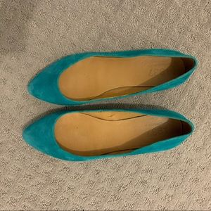 Teal Madewell Suede Flats